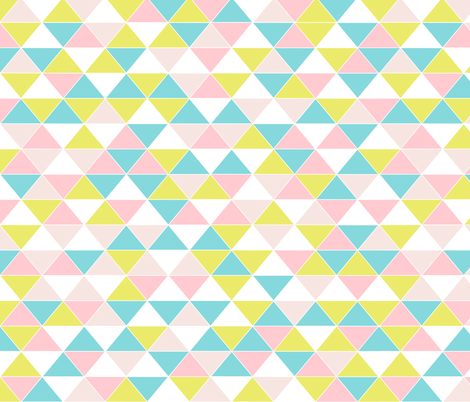 Triangles Pastel fabric by curious_nook on Spoonflower - custom fabric