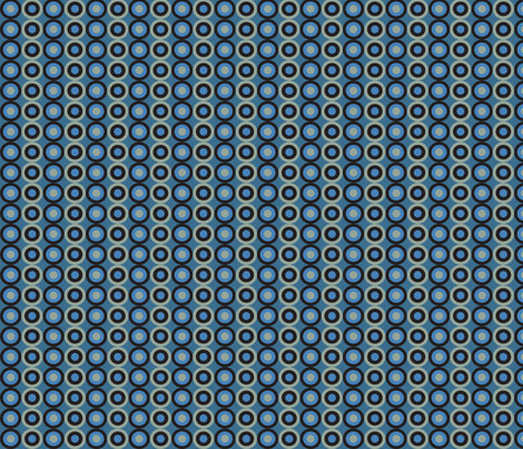 blue snake small circles fabric by mariafaithgarcia on Spoonflower - custom fabric
