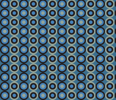blue snake circles fabric by mariafaithgarcia on Spoonflower - custom fabric