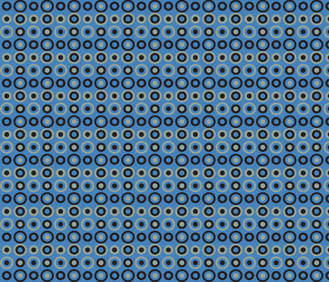 blue snake circles varied fabric by mariafaithgarcia on Spoonflower - custom fabric
