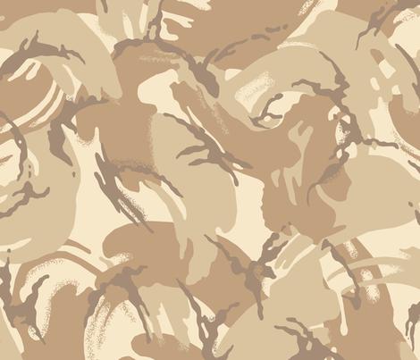 British DPM 4 Color Desert Camo fabric by ricraynor on Spoonflower - custom fabric