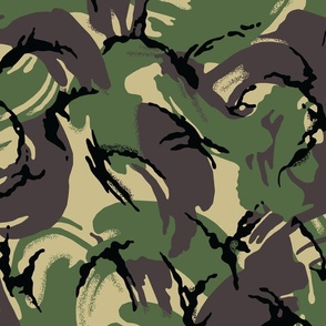 British DPM Temperate Woodland Camo