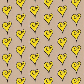 Heart Motif yellow hearts