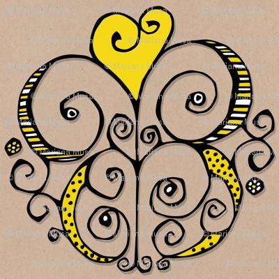 Heart Motif yellow
