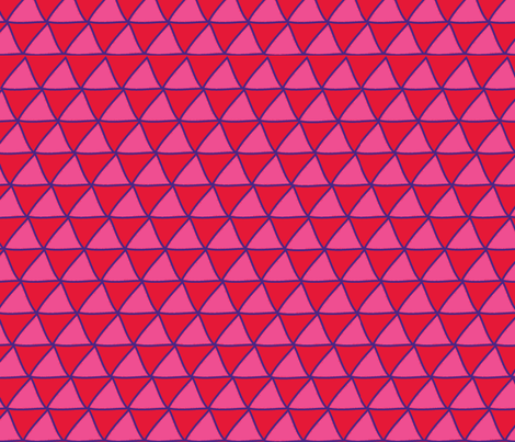 Triangles Red Pink & Purple fabric by curious_nook on Spoonflower - custom fabric