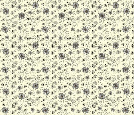 hearts and daisies fabric by kociara on Spoonflower - custom fabric