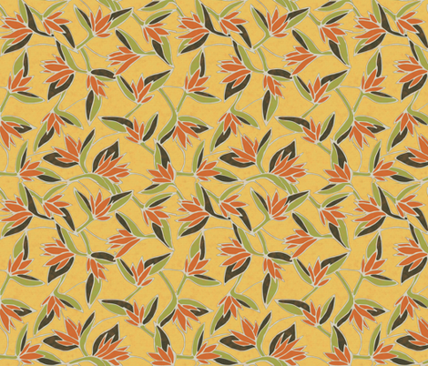 ave del paraiso (yellow) fabric by kirpa on Spoonflower - custom fabric