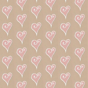 Heart Motif pink hearts