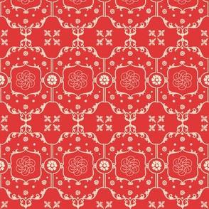 Shabby Frame in Romantic Red