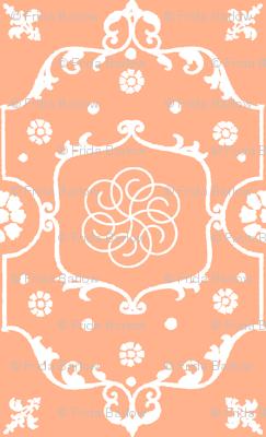 Shabby Frame in Peach Cream