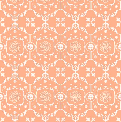 Shabby Frame in Peach Cream fabric by pearl&phire on Spoonflower - custom fabric