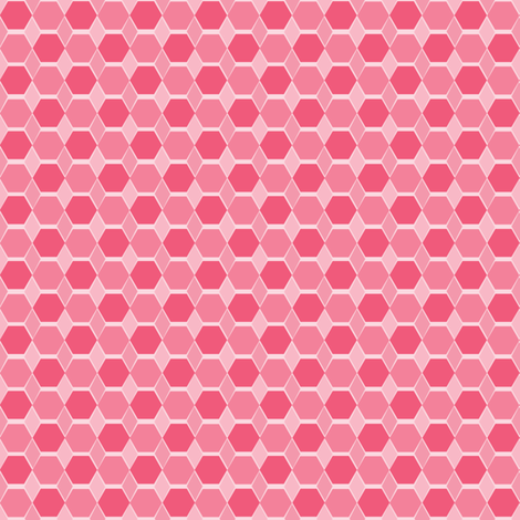 Hexagon Quilt 2 fabric by mahrial on Spoonflower - custom fabric