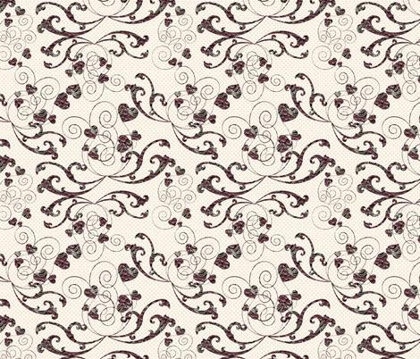 rosy hearts fabric by kociara on Spoonflower - custom fabric