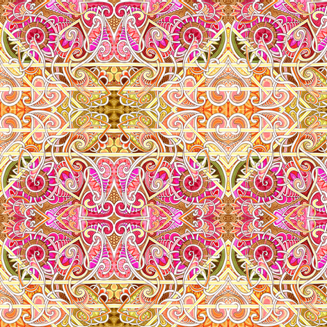 Summer Sunrise fabric by edsel2084 on Spoonflower - custom fabric