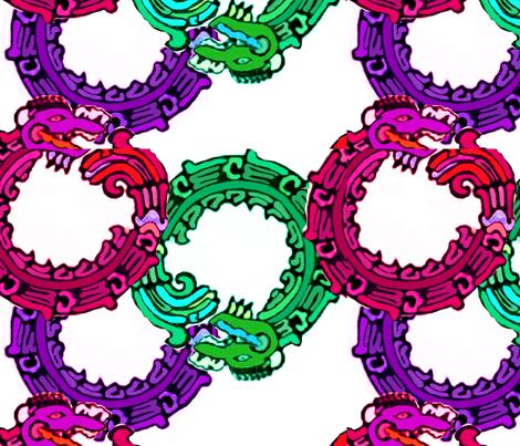 Mayan_snakes fabric by m__elizabethblair on Spoonflower - custom fabric