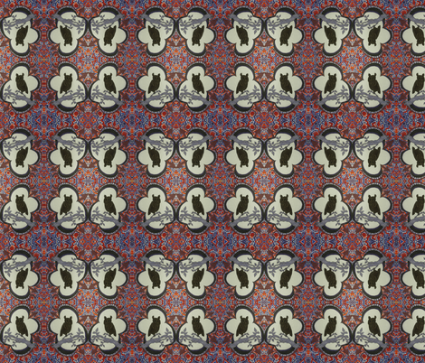 owl fabric by inside_outrance on Spoonflower - custom fabric