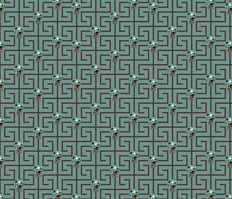 Mr. Teal fabric by sugarxvice on Spoonflower - custom fabric