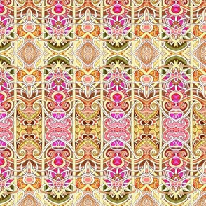 Zig Zag Behind Bars (cheerful colored abstract vertical stripe)