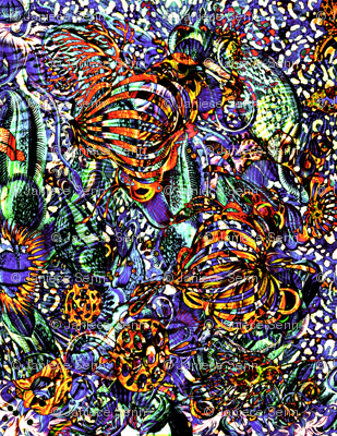 abstract tropical flora