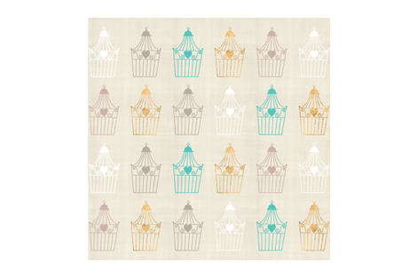vintage-in-the-cage  fabric by firki on Spoonflower - custom fabric