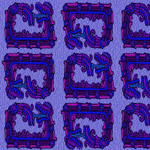 four_mayan_snakes blue