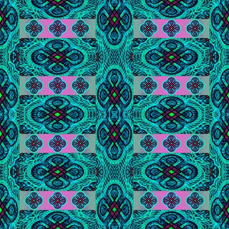 green rangoli fabric by y-knot_designs on Spoonflower - custom fabric