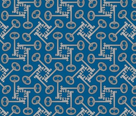 key_rotations_blue fabric by glimmericks on Spoonflower - custom fabric