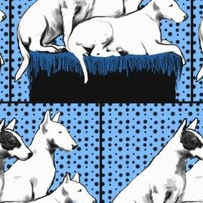 Bull terriers fabric