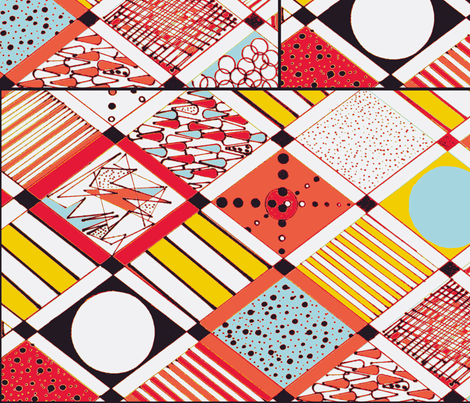 diamonds red and orange-ch fabric by bettieblue_designs on Spoonflower - custom fabric