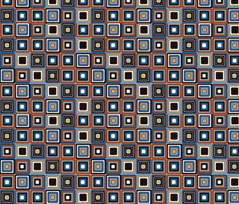 mosaic red and purple fabric by kociara on Spoonflower - custom fabric