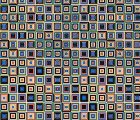 mosaic green and blue fabric by kociara on Spoonflower - custom fabric