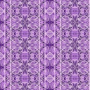 Lavender Lace vertical stripe