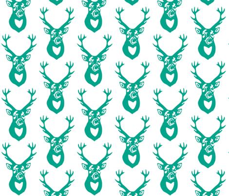 Teal Deer fabric by efolsen on Spoonflower - custom fabric