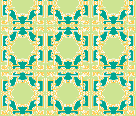 Iron Gates in Emerald and Lime fabric by fridabarlow on Spoonflower - custom fabric