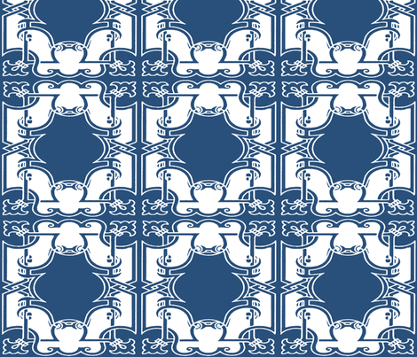 Iron Gates in Royal Indigo fabric by pearl&phire on Spoonflower - custom fabric