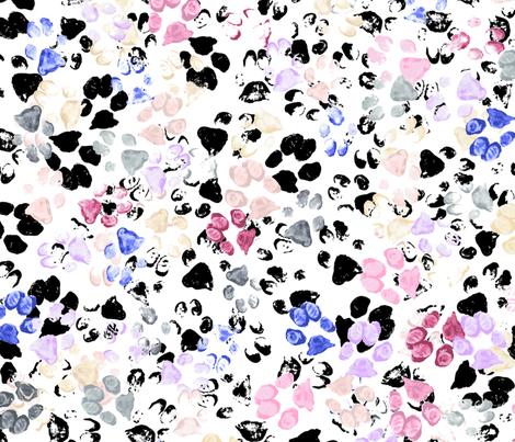 Paws Petals Floral fabric by purplish on Spoonflower - custom fabric