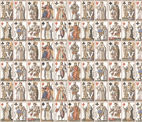 royal cards fabric by mossbadger on Spoonflower - custom fabric