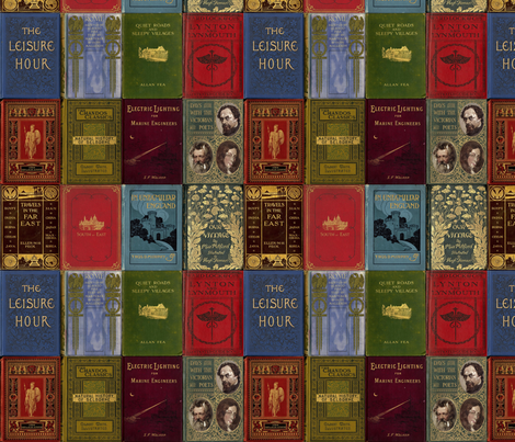 rare books (repeat) fabric by mossbadger on Spoonflower - custom fabric