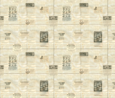 Harper's Bazaar advertisements fabric by smart_cats on Spoonflower - custom fabric