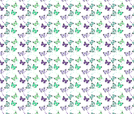 Colorful Butterflies fabric by cutiecat on Spoonflower - custom fabric
