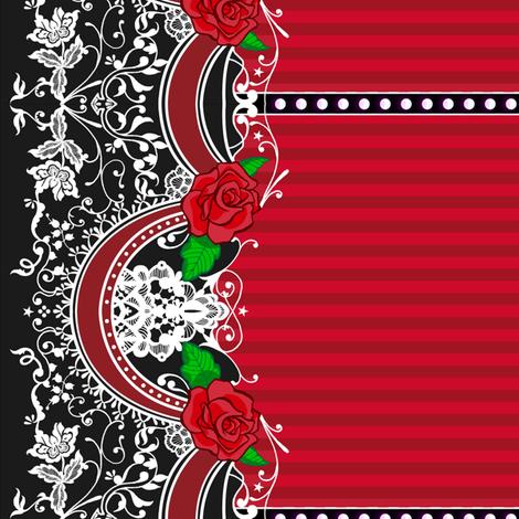 Roses Border 2 fabric by jadegordon on Spoonflower - custom fabric