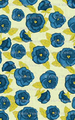 Pansy (linen background)