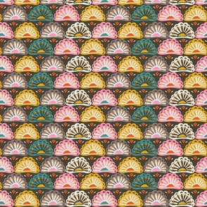 Year of the Snake coordinating fabric - flowers