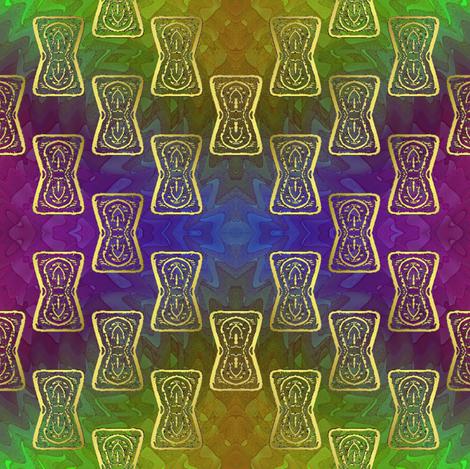 keyhole rainbow 2 fabric by y-knot_designs on Spoonflower - custom fabric