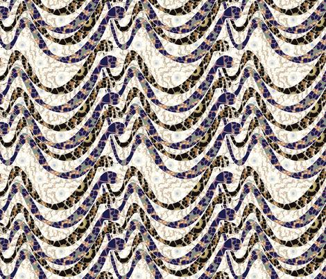 crawling snakes mosaic fabric by kociara on Spoonflower - custom fabric