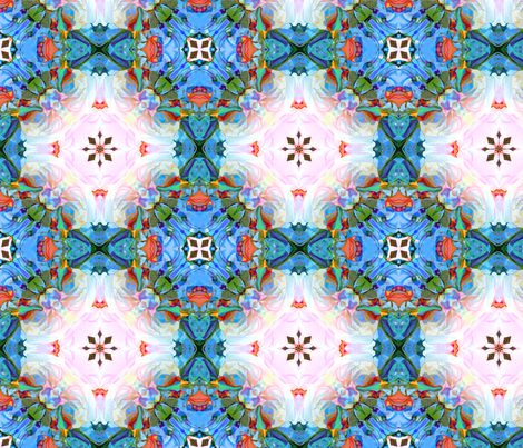 Through the Garden Trellis fabric by dana_zurzolo on Spoonflower - custom fabric