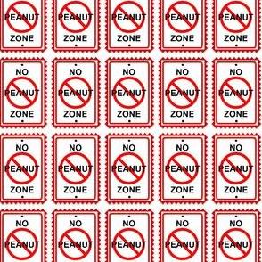 No Peanut Zone!