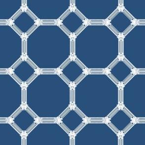 Mosaic Moroccan in Royal Indigo Blue