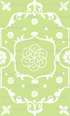 Shabby Frame in Lime Pistachio