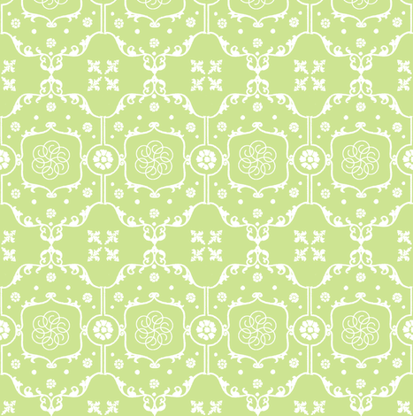 Shabby Frame in Lime Pistachio fabric by pearl&phire on Spoonflower - custom fabric